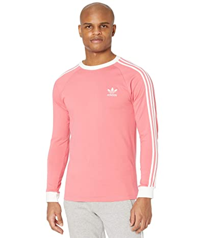 adidas Originals 3-Stripes Long Sleeve Tee (Hazy Rose) Men