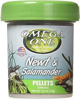 OMEGA 63111 1 One Newt & Salamander Pellet 1.2oz, Yellow