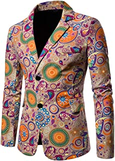 New Printed Fashion Dashiki Cardigan Jacket Long Sleeve Printed Coat Men