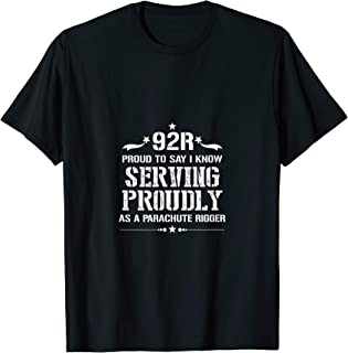 I Am Proud 92R Military & Army Parachute Rigger T-Shirt