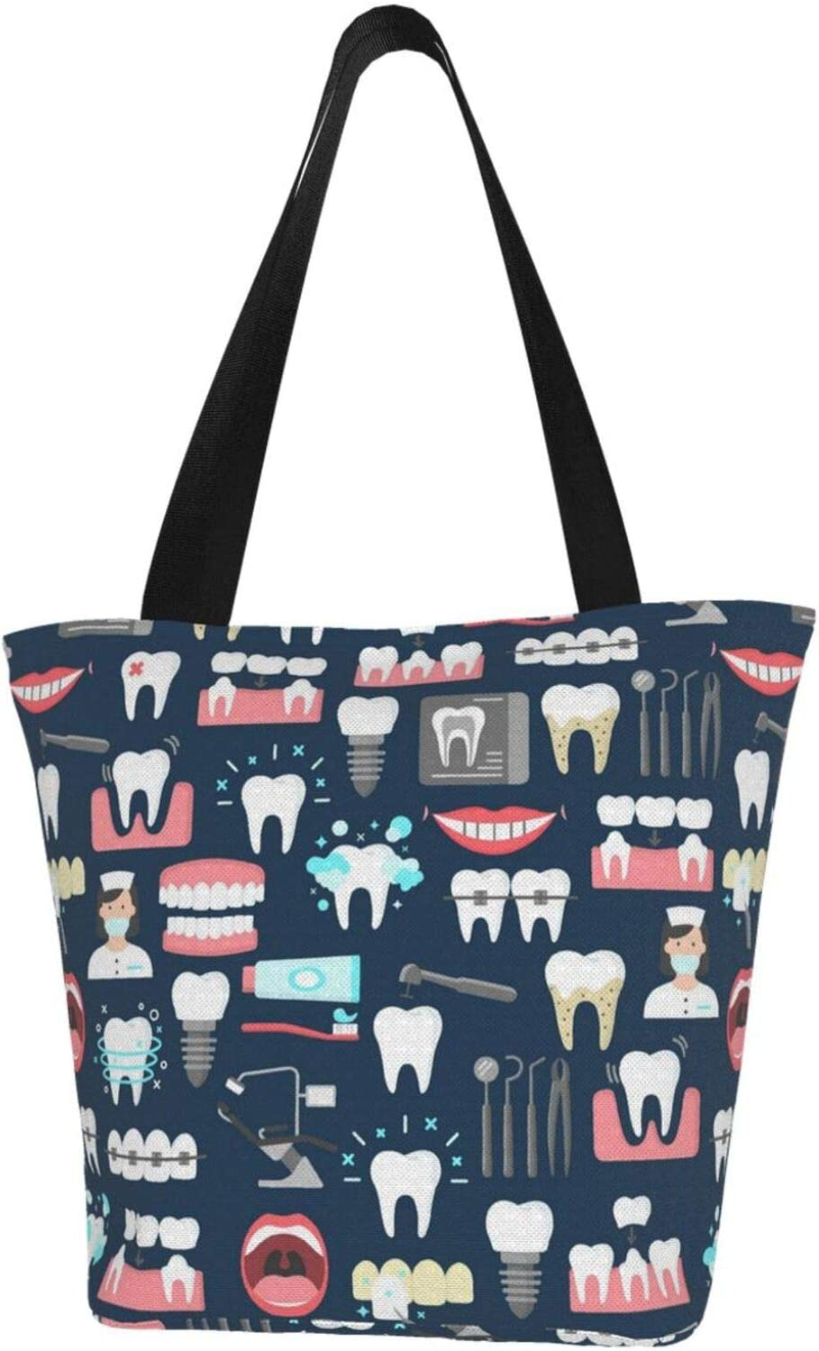 antcreptson Dental New sales Seamless Pattern 1 Wome Tote Bags for Beach outlet