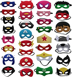 20pcs/Set Super Hero Masquerade Mask Children's Day Party Supplies Christmas Wedding Decoration Birthday Gift,Cosplay Masks for Children/Adults