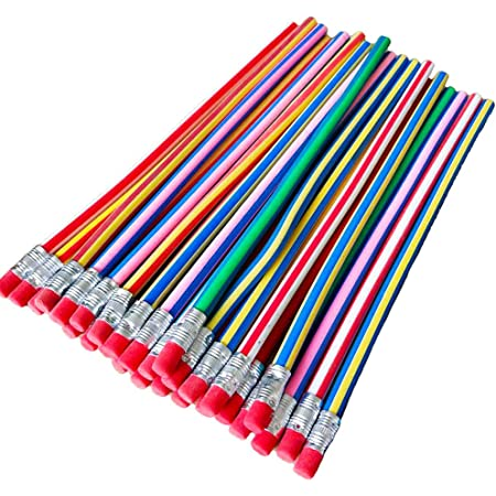 Haawooky 35 Pieces Flexible Soft Pencil Magic Bend Pencils for Kids Children School Fun Equipment