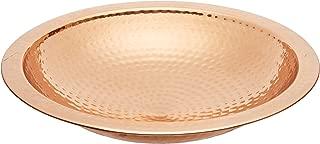 Achla Designs Hammered Copper Birdbath Bowl with Rim,Threaded