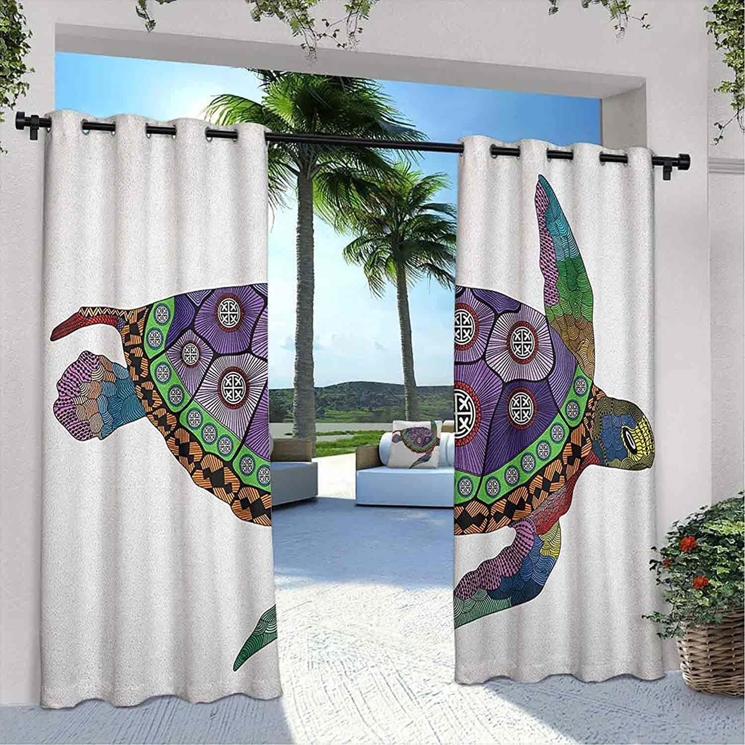 Time sale Outdoor Privacy Psychedelic Curtain Sea Turtle Or Colorful with Fixed price for sale
