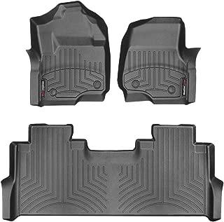 WeahterTech Custom FloorLiner for Ford SuperDuty SuperCrew - 1st & 2nd Row (Black)