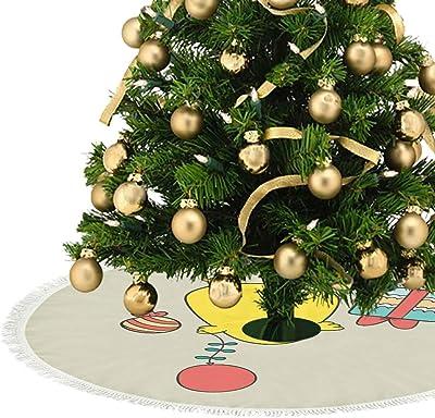 kikomia - Falda para árbol de Navidad (Felpa Corta), Color Azul y ...