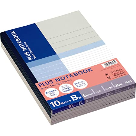 プラス ノート セミB5(6号)B罫30枚10冊パック NO-003BJ-10P 75-086
