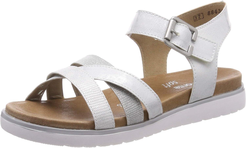 Remonte Women Sandals Silver, (Weiss-silver silver ) D4052-90
