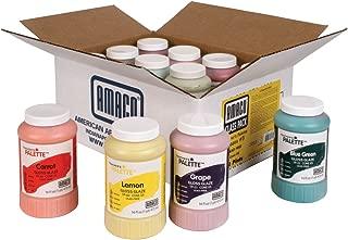 AMACO Teacher's Palette Glazes Class Pack 3, Assorted Colors, Set of 12 Pints