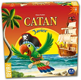 Devir- Juego Junior ¡COLONIZA LA Isla DE Catan con Astucia Y Estrategia, Multicolor (221947)