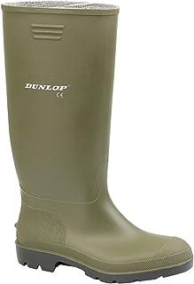 Size 9 Dunlop Mens 380vp Green Wellington Boots Uk