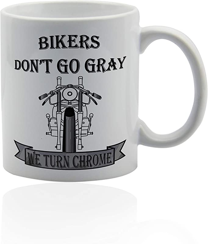 Biker Coffee Mugs 11 Oz White Ceramic Cup Gift Ideas For Bikers