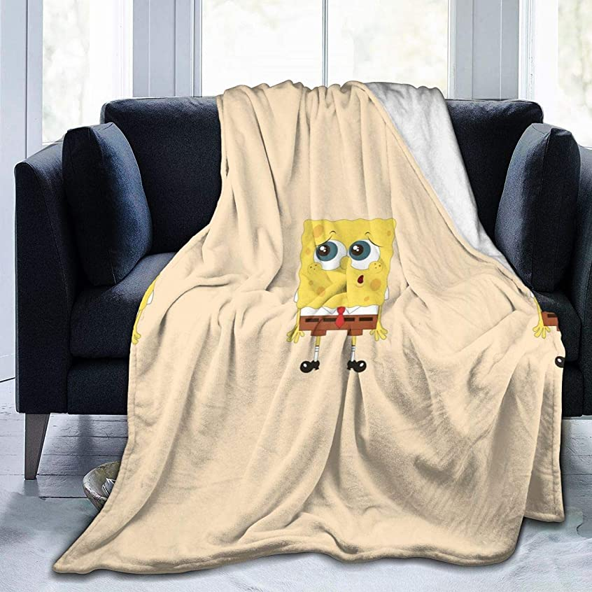食料品店秘密の余分な毛布 ブランケット スポンジボブ シングル ふんわり 洗える フランネル シーツ ひざ掛け