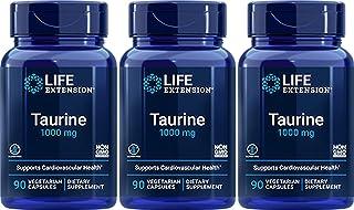 Taurine 1000 mg, 90 Vegetarian Capsules-Pack-3