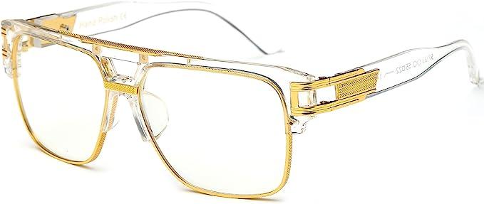Steampunk Accessories | Goggles, Gears, Glasses, Guns, Mask Allt Square Aviator Large Fashion Sunglasses For Men Women Goggle Alloy Frame Glasses  AT vintagedancer.com