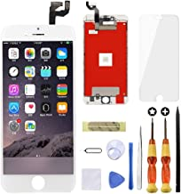 Goldwangwang Screen Replacement for iPhone 6S Plus 5.5inch 3D Touch LCD Screen Digitizer Replacement Display Assembly Set with Repair Tool kit + Tempered Glass Screen Protector + Instruction White