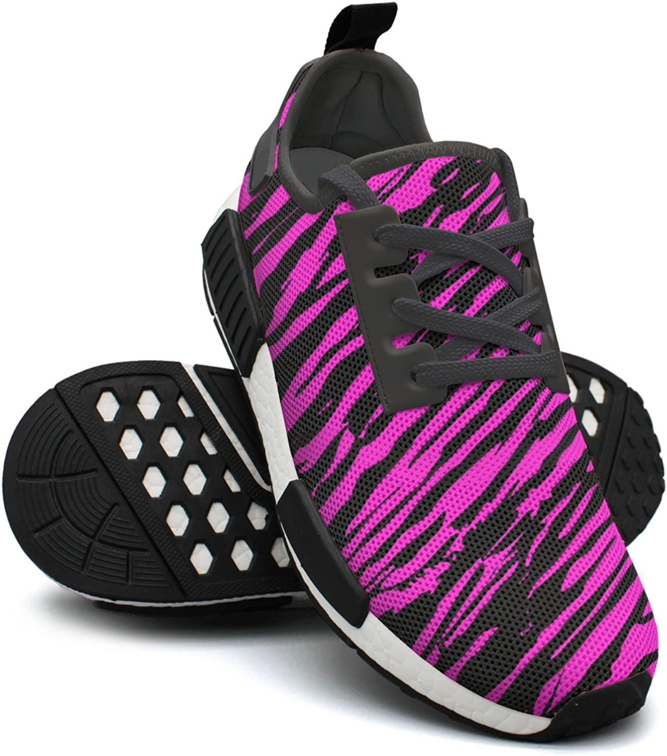 Beautiful Pink and Dark Zebra Outdoor Sports Athletic Running shoes Women NMD