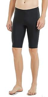 Ubestyle Men's UPF 50+ Solid Jammer Swim Suit Swim Shorts Board Shorts Sun Protection