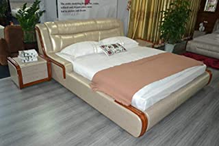 My Aashis Genuine Leather Shine Bed for Home Furniture