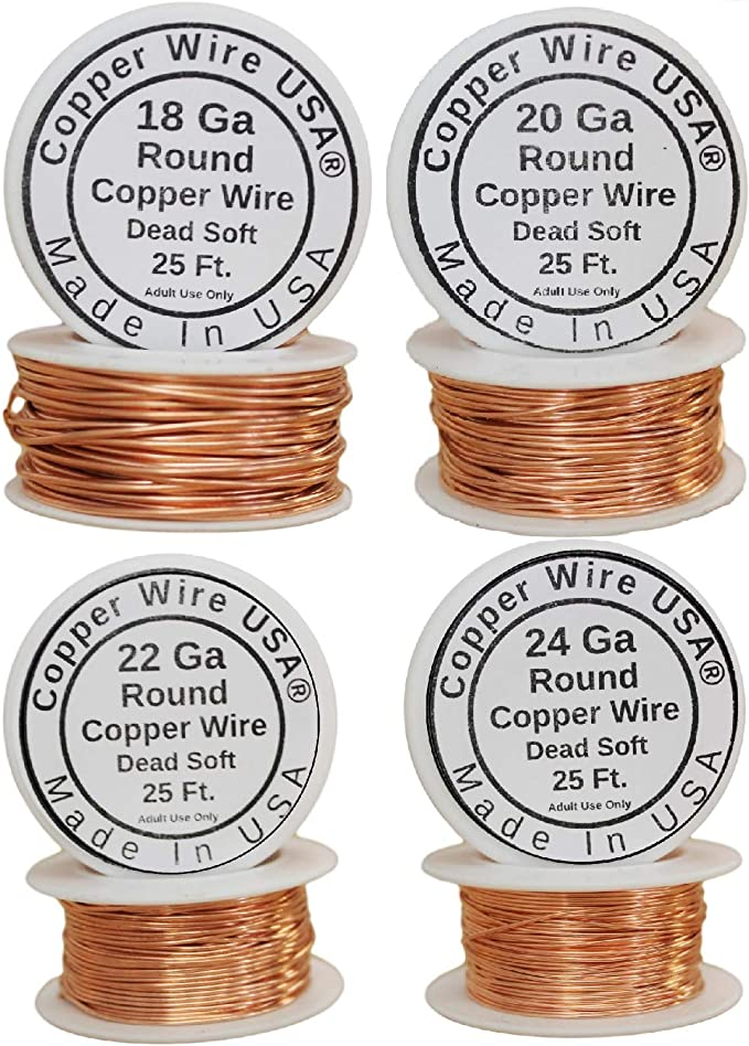 8 Lbs  Copper Wire Bare Bright #1 Melt Material Craft Recovery Cast free shippin