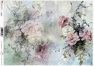 Craft Consortium Decoupage-Papier 13.75-inch X 15.75-inch Antik Rose blau