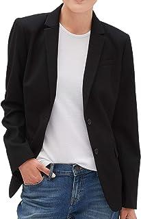 Banana Republic Women`s Washable Long and Lean Black Two-Button Blazer, Black