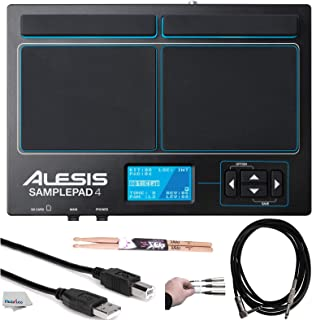 Alesis SamplePad 4 | Compact 4-Pad Percussion and Sample-Triggering Instrument with SD Card Slot + On Stage Maple Wood Dru...