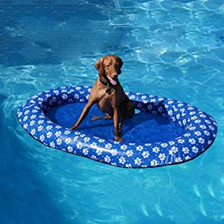 Pool Float For Adult Dogs,Puppies | Portable Inflatable Pool Raft For Small And Large Dogs| Fun Swimming Pool Bath Toy For Pet Doggy |Pet Suntan Tub Floaties Lounger| Let The Dog Feel Cool In Summer.