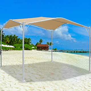 Garden Gazebo 3m x 3mShelters Gazebos Party Tent Steel Frame Gazebo,Waterproof Fabric Outdoor Marquee Tent,Sun Umbrella, A...