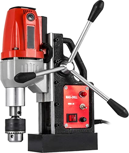discount Mophorn 980W Magnetic Drill Press with 1-1/3 Inch (35mm) 2021 Boring Diameter Magnetic Drill Press Machine 2700 LBS Magnetic Force Magnetic Drilling outlet sale System 680 RPM Portable Electric Magnetic Drill Press online sale