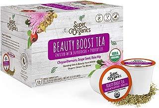 Super Organics Beauty Boost Green Tea Pods With Superfoods & Probiotics | Keurig K-Cup Compatible | Beauty Tea, Skin Care Tea | USDA Certified Organic, Vegan, Non-GMO Natural & Delicious Tea, 72ct