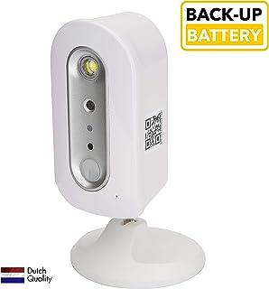 SEC24 CAM112 - IP Cámara de Vigilancia Interior y Exterior Recargable WiFi Completamente Inalámbrico Conveniente para la aplicación de OMGuard HD Sin Costos Ocultos Detector de Movimiento