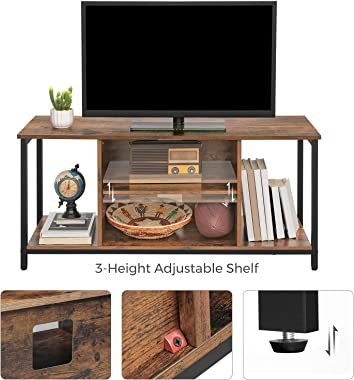 VASAGLE TV Standfor TVup to 50 Inch, TV Cabinet with Open Storage, TV Console Unit with Shelving, for Living Room, Entertai