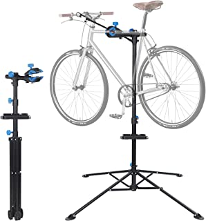 """F2C Portable Adjustable 34"""" to 62""""/42.5"""" to 74"""" Sturdy Steel Construction Maintenance Mechanic Bicycle Bike Repair Tool Rack Stands Workstand w/Telescopic Arm, Tool Tray & Balancing Pole Bicycle Rack"""