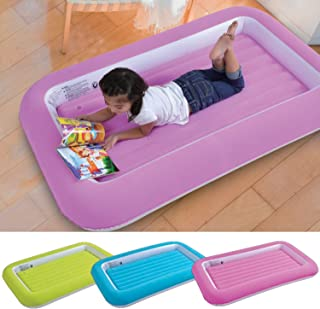Parkland® Barn uppblåsbar säkerhet flockade barn luftmadrass småbarn camping luftsängar mjuk bekväm rolig färgglad gäst öv...