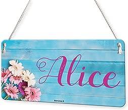 Flowers On Wood Girls Personalised Childs Bedroom Door Sign Name Plaque