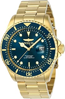 Men's Pro Diver Quartz Diving Watch with Stainless-Steel Strap, Gold, 22 (Model: 23388)