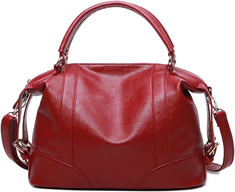 Mayshe Women's Soft Leather Casual Top Handle Tote Messenger Shoulder Satchel Handbag Crossbody Purses