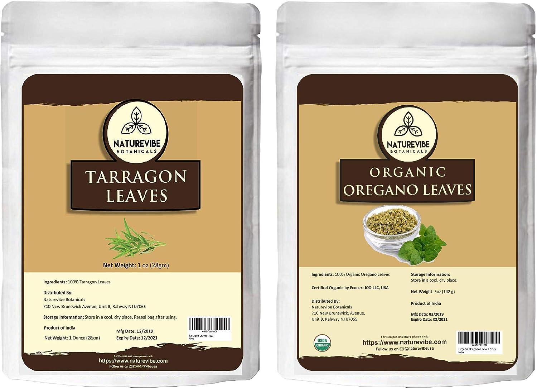 Naturevibe Max 84% OFF Botanicals Organic Tarragon Max 86% OFF leaves oregano and 1 oz