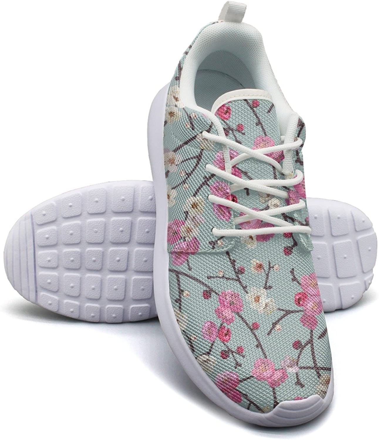 Cherry Blossom Branches Women's Fashion Running shoes Casual Mesh Lightweight Basketball Sneakers