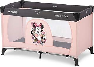 Hauck Dream N Play - Cuna de viaje 3 piezas 120 x 60cm, bebe, incluido colchóncito y bolsa de transporte, de 0+ meses hasta 15 kg, plegado y montaje fácil, ligera y estable, rosa