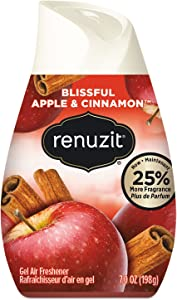 Renuzit 03674 Adjustables Air Freshener, Blissful Apples and Cinnamon, 7 oz Cone, 12/Carton