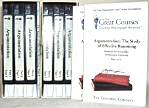 Argumentation: The Study of Effective Reasoning. The Teaching Company Complete Set, Parts 1 and 2 (6 VHS and 2 Guidebooks) (The Great Courses)