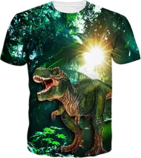 2ceb1bd1 Neemanndy Unisex 3D Graphic Print Cool Design Short Sleeve T-Shirts for Men  and Women