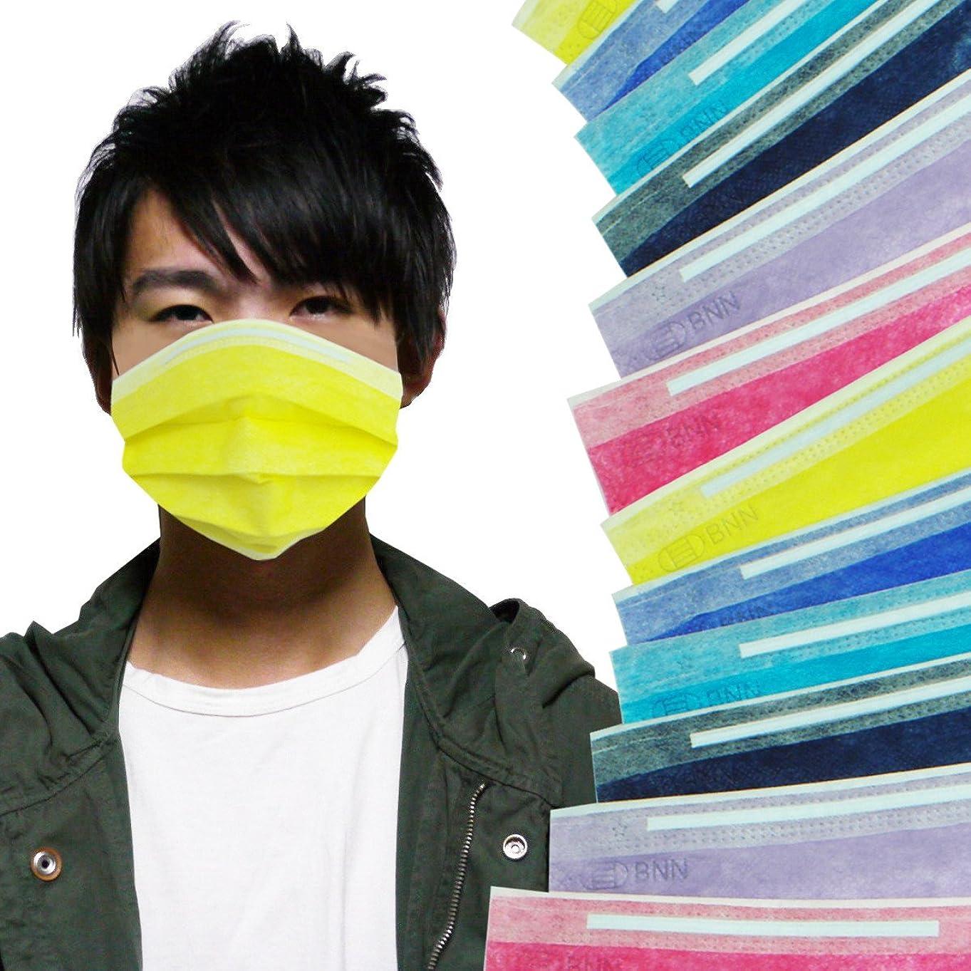 割り当て唯一ミリメートル[メロウストア] マスク シンプルディープカラー 6色セット 3セット 18枚 不織布 ぴったりフィット 三層構造タイプ (大)