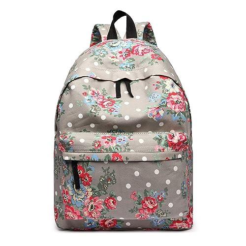 d37c691db121 Miss LuLu Backpack Rucksack Travel Camping School Bags Women Butterfly  Flower Polka Dot Elephant Fish Galaxy