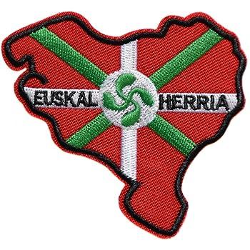 Patch ecusson brod/é pays basque euskadi herria blason armoirie drapeau region