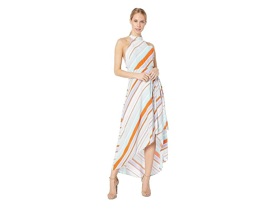 ASTR the Label Illusion Dress (Pop Orange Stripe) Women