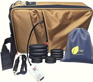 Portable Hot Massage Stone Heater Bag Kit 16 Stones Warmer Set E-book